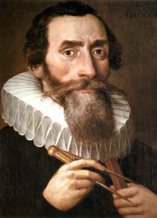 Johannes Kepler - ° Weil der Stadt, 27 december 1571 – † Regensburg, 15 november 1630, Duits astronoom, astroloog, wiskundige, natuurkundige, theoloog. Hij was een leerling van de astronoom Tycho Brahe (°Zweden, Skäne, 14 december 1546 – † Tsechië, Praag, 24 oktober 1601)