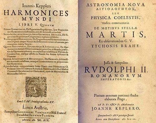 Beginpagina van Harmonices Mundi, met de verwijzing van een werk dat werd gepubliceerd toe nog in de leer was bij Tycho Brahe.